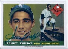2014 Topps Finest SANDY KOUFAX Rookie Reprint Auto Autograph On-Card #16/100 SP!