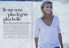 Coupure de presse Clipping 2011 Claire Chazal   (8 pages)