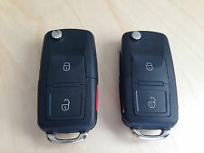 2 X NEW VW VOLKSWAGEN KEY REMOTE FOB SHELL REPLACEMENT KIT BEETLE JETTA PASSAT