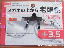 Clip on Flip up Magnifying Reading Glasses +3.5 Diopter Optical DAISO JAPAN NE