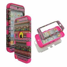 Pnk Checker Hybrid 3 in 1 Apple  Ipod Touch 5 Case Hard Cover Faceplate