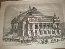 The Grand Opera House Paris France 1871 old print