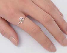 Silver Tiny Om Sign Ring Sterling Silver 925 Best Deal Plain Jewelry Size 9