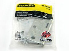 "NEW STANLEY 81-9049 SP804 UTILITY HINGE 3"" 76 mm STEEL ZINK PLATED"