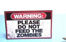 Dollhouse Miniature Zombie Sign : S154