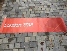 LONDON Paralympics Olympics 2012 Flag Sign Banner Mint Olympic Memorabilia Red