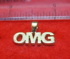 "14KT GOLD EP TWITTER WORD ""OMG"" SAYING (OH MY GOD) PENDANT"