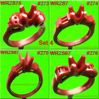 # SET 4  RINGS STONES SETTING 8 WAX  PATTERNS FOR CASTING JEWELRY MOLDS