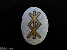 Protection Bind Stone Rune amulet talisman magickal wicca pagan pebble spell