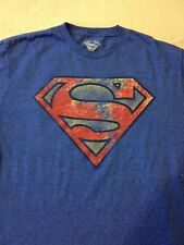"New ""Superman"" Men's Blue T Shirt Size Large"