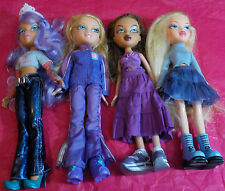 MIXED LOT OF 4 PREVIOUSLY PLAYED WITH BRATZ DOLLS LOT A8