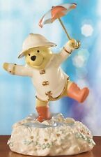 WOW Disney Lenox Winnie the Pooh MUSICAL Singing in the Rain Figurine NEW 14919