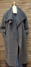 LAGENLOOK WOOL MIX BEAUTIFUL 2 LARGE POCKETS LONG COAT*GREY-MINK*Size L-XL-XXL