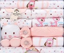 18PCs  Baby Cute girls 2set Clothing+bibs+hat other Kids infant items Outfits