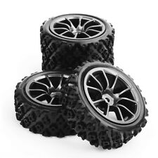 4x Rally Racing Tyre 1/10 RC Off Road Car Vehicle Tyres Wheel Rim C12M+ PP0487