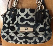Coach Kristin OP Art Sateen Satchel
