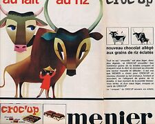 PUBLICITE ADVERTISING 025 1964 MENIER chocolat au lait au riz (2 pages)