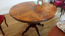 Reproduction Inlaid Round Pedestal Italian Dining Table