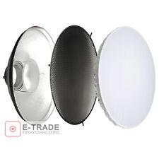 BeautyDish 70cm + Grid + Diffusor - - für moderntex, Bowens und walimex / Silber