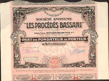 DECO =  Les Procédés de BASSANI, photographie (I)