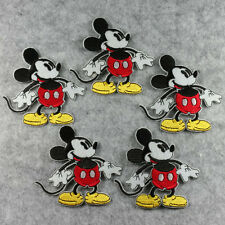 5 pcs Mickey Mouse Standed Sew Iron On Sew On Cloth Patches Appliques Crafts #2