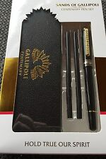 Sands of Gallipoli Centenary Ballpoint Pen With Case, 2 Refills Gift Box *ANZAC