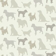 Arthouse Walkies Neutral Wallpaper Dog Animal Puppy Silhouette 622008 Pets