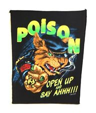 POISON - Open Up And Say Ahhh!!! - Backpatch - Rücken Aufnäher - Neu - #021