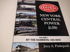 MORNING SUN 20-4940 New York Central Power In Color Volume 1 IN COLOR BOOK