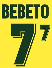 Brazil Bebeto Nameset 1994 Shirt Soccer Number Letter Heat Print Football Home