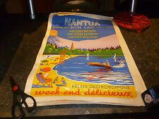 COIN COUPé Ancienne Affiche Touristique NANTUA ( Ain ) Print Vintage Poster 1960