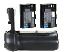 Pro Vertical Battery Grip + 2x LP-E6 Battery for CANON EOS 70D Camera NEW