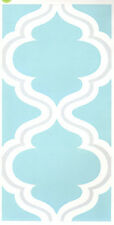 DAMASK TILES wall sticker 4 decals bedroom decor backsplash bathroom blue silver