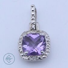 Sterling Silver   VICTORIA TOWNSEND Amethyst DIAMOND Accent 1.5g   Pendant