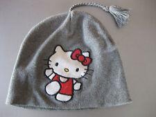 Strickmütze Mütze Kappe Hello Kitty H&M Mädchen Gr. 104/116 Grau