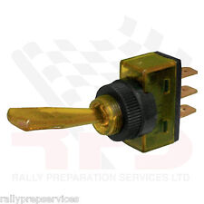 Amber 12 Volt Illuminated Flick On/Off Toggle Switch Race Car Rally Car Kit Car