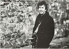 The EDGE (U2) b/w pic on card with machine  printed autograph 8x6 inches