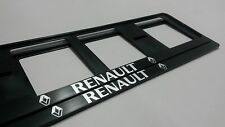 2X RENAULT EUROPEAN LICENSE NUMBER PLATE SURROUND FRAME HOLDER.