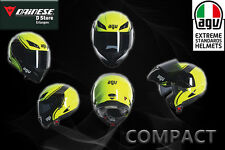 ORIGINAL AGV COMPACT E2205 MULTI-COURSE YELLOW/BLACK FLIP-UP HELMET SIZE XL