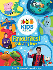 KIDS ABC FAVOURITES COLOURING BOOK..BLUE..over 60 pages  new