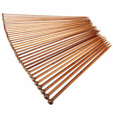 36Pcs 18size 35cm Carbonized Bamboo Single Pointed Knitting Needles Yarn Tools