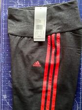 Adidas Ess 3S Climalite XS Womens Tight Long Pants Trousers Black BNWT RRP£32