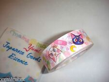 Sailor Moon chara tape roll Luna & Artemis  genuine  authentic   from  Japan