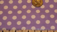 Fabric White Dots on Lilac Flannel  by the 1/4 Yard BIN