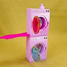 Barbie Stacking Washer & Dryer Spins Laundry Center w/ Ironing Board Mattel 2012