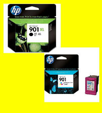 Originale HP 901XL black + HP 901 color CC654 CC656 Officejet 4500
