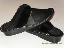 NEW Genuine Lambskin Sheepskin Shearling Leather Slippers Women US 6.5-7, EU 38