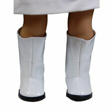 "18"" Doll Shoes White Go Go Boot +Shoe Box Fit American Girl Clothes Accessories"