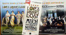 RSC FLYER MUCH ADO ABOUT NOTHING & LOVE'S LABOUR'S LOST WILLIAM SHAKESPEARE