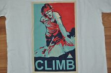T-SHIRT SMALL ROCK CLIMBING CLIMBER FREE CLIMB MOUNTAINEERING